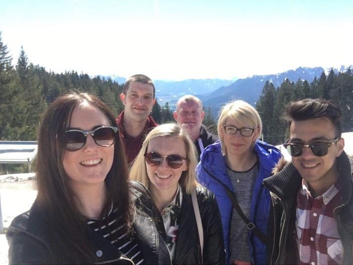 Staff sent on the German training trip for Edinburgh PR