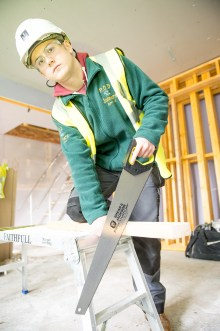 Danielle Cowan one of CALA's Prince's Trust Apprentices