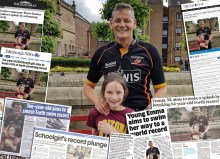 Media coverage thanks to Charity PR on Emma's Forth Swim for ECHC