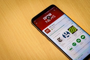 App installing on phone taken by Edinburgh PR agency
