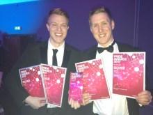 Staff at award winning Holyrood PR in Scotland celebrate the latest haul of PR awards in 2017
