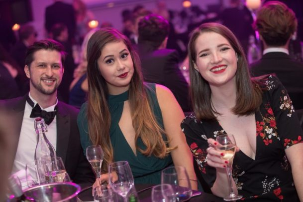 Holyrood PR staff at CIPR Scotland PR Awards 2017, where the agnecy was shortlisted for 10 awards