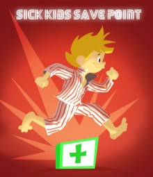 Sick Kids Save Point Poster for Charity PR