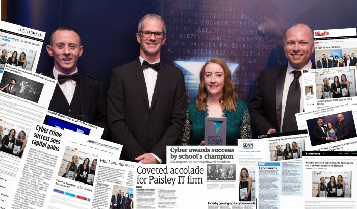 Tech pr coverage of Scottish PR press release from Cyber Awards