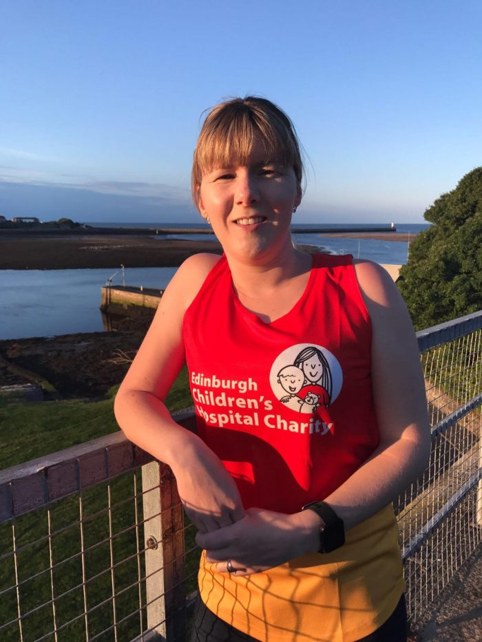 Nikki Robertson speaks to charity PR experts following her defying half-marathon success