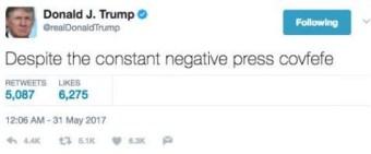 Trump's covfefe tweet