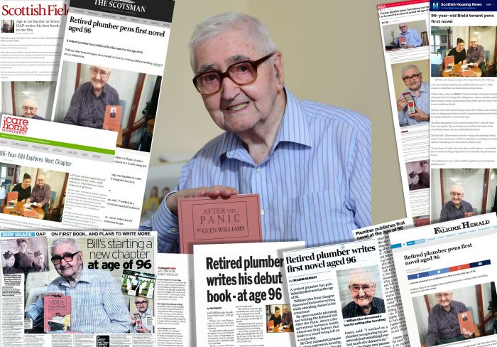 Social care PR experts Holyrood PR promotes client Bield's story on 96-year-old retired author Mr Glen as he publishes his first book.
