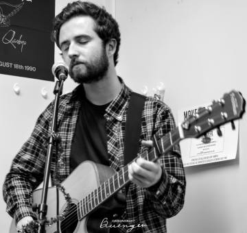 Image from the West Lothian Guitar Service open mic night to be used for Charity PR