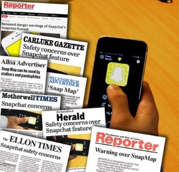 Tech PR snapchat maps warning from SBRC