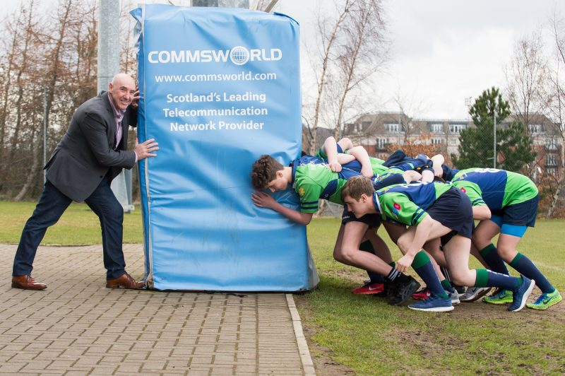 Ricky Nicol Commsworld, Boroughmuir RFC sponsorship, 27th, March, 2018 Tech PR