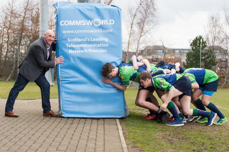 Ricky Nicol Commsworld, Boroughmuir RFC sponsorship, 27th, March, 2018 Tech PR