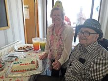 Care PR celebrates two Glaswegian tenants dressed up to the nines to mark their combined birthday age of 183 on the day of the royal wedding.