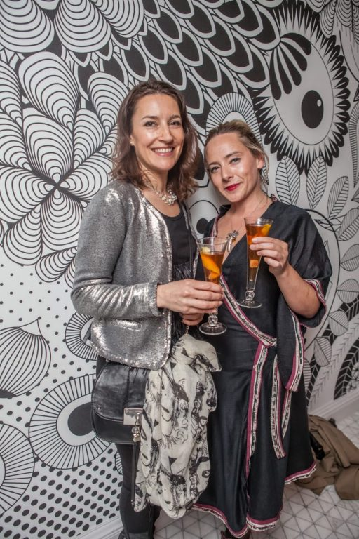 Hotel PR photograph of Jemima Nathan and Vixy Rae captured by Scottish PR agency at Tigerlily refurbishment launch in Edinburgh