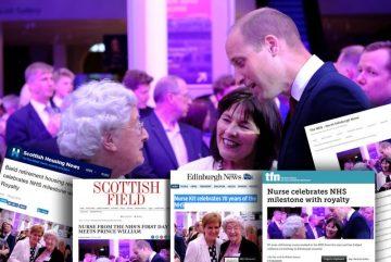 BIELD GAINS HEALTHY SUCCESS AS FORMER NURSE MEETS ROYALTY AT NHS MILESTONE