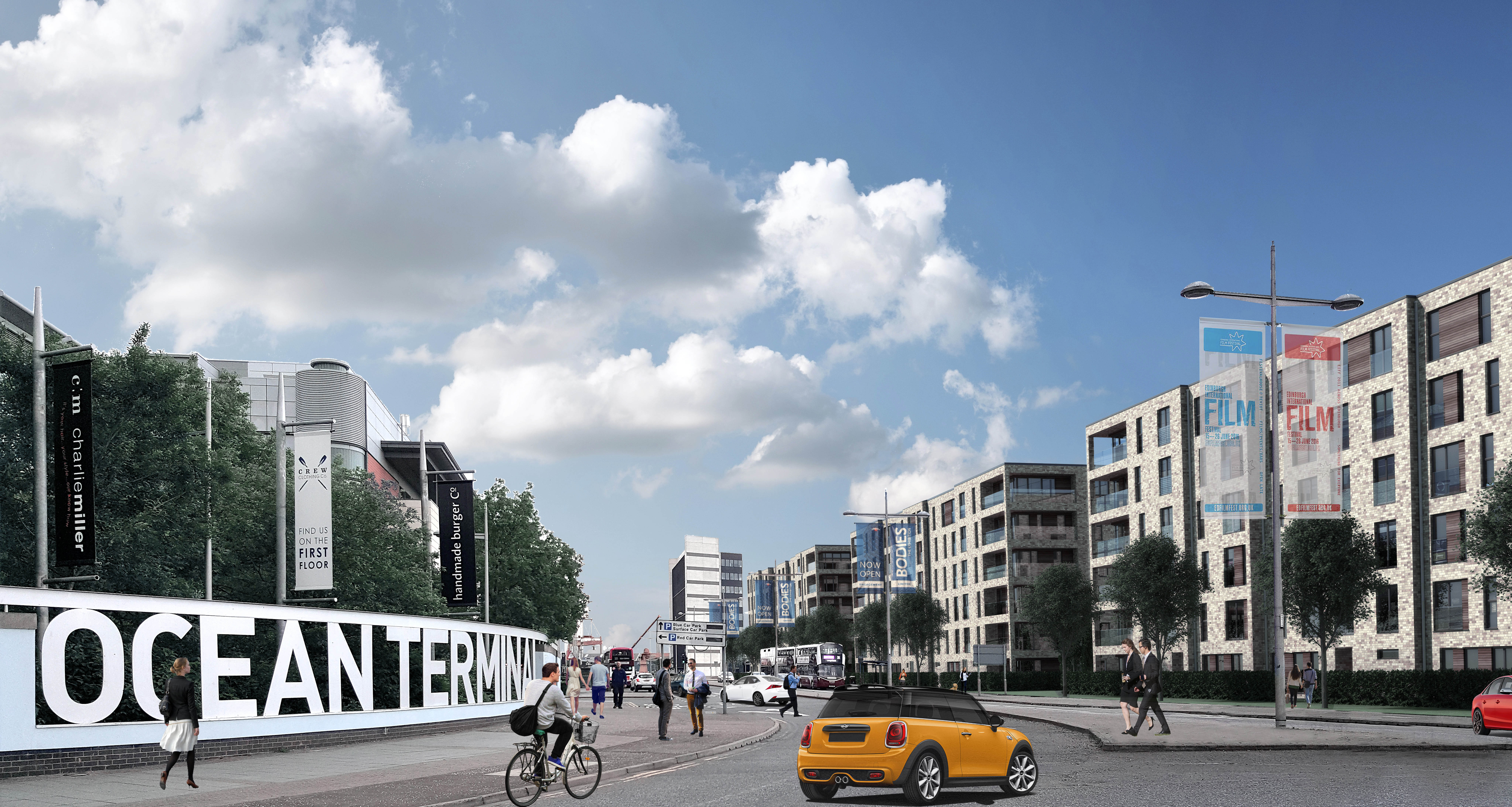 Artis impression from a planning PR campaign for housing development