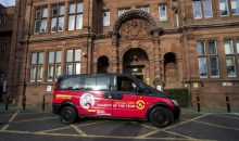 Charity PR photograph of Central Taxis in Edinburgh supporting Edinburgh Children's Hospital Charity