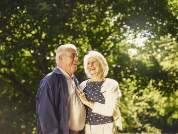 PR photograph of a happy older couple - Scottish PR