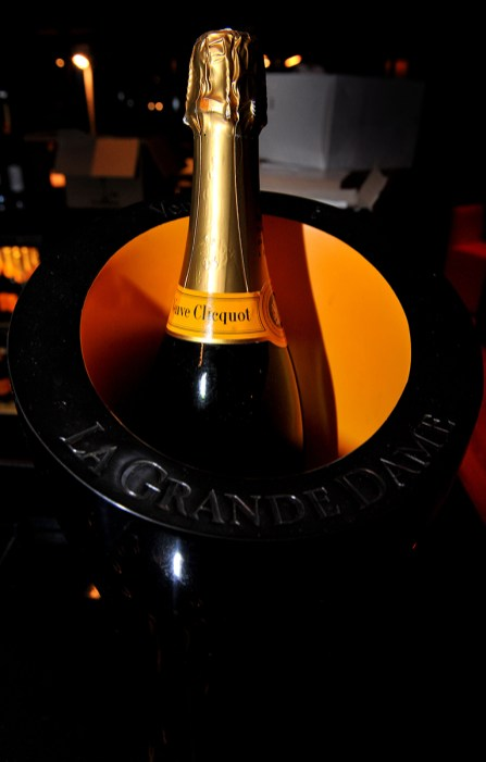 Food and drink PR for Hyde Out style bar, showing a champagne bottle