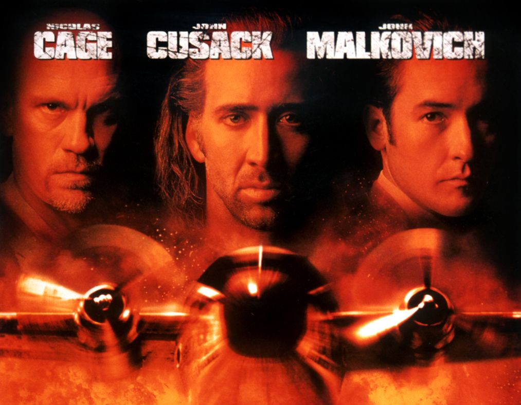 A trio of Hollywood stars appeared in the instantly recognisable Con Air movie poster