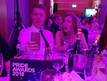 Holyrood PR staff at PRide Scotland 2018 PR awards