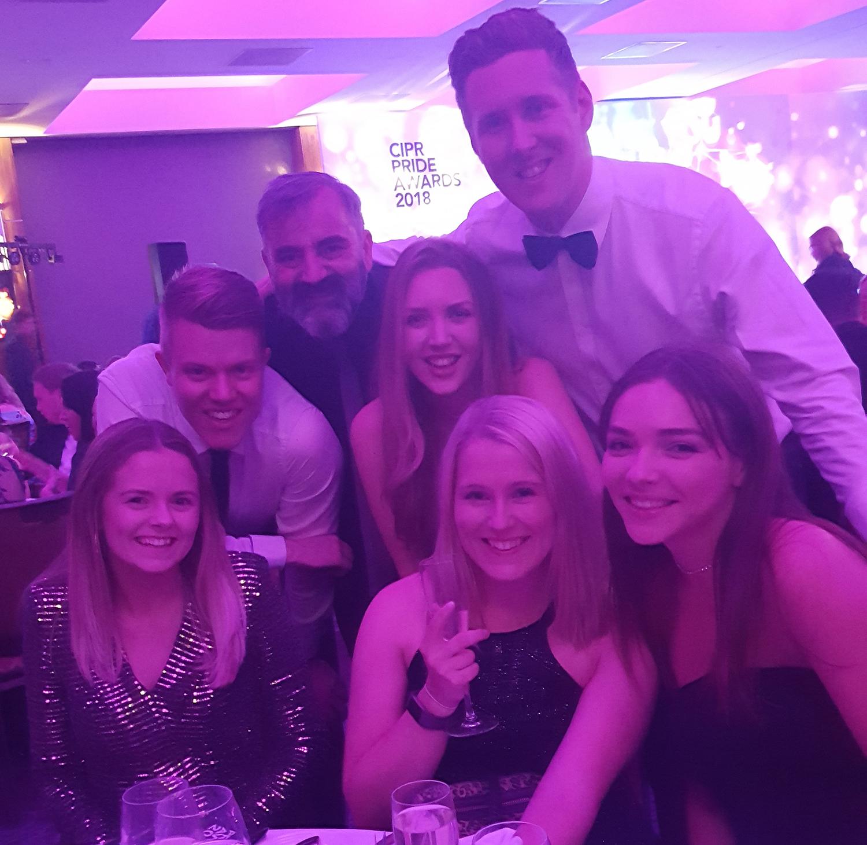 PR awards - Holyrood PR staff at PRide Scotland 2018