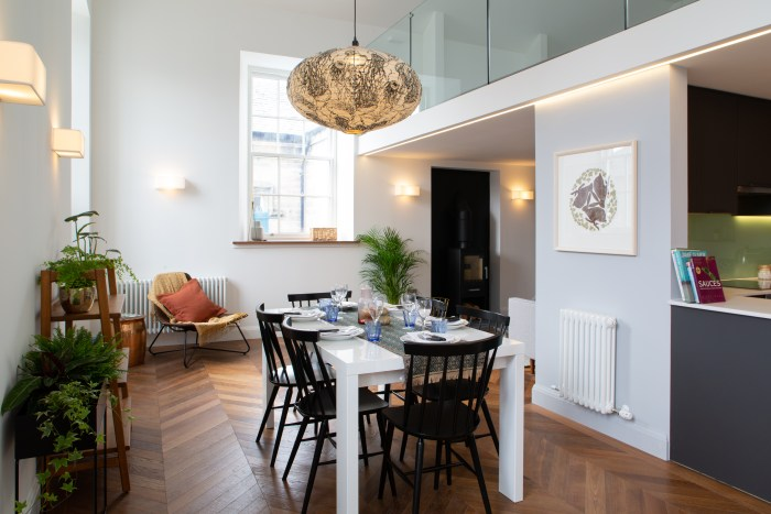 A property PR photograph of one of the apartments at Kinross Town Hall redevelopment