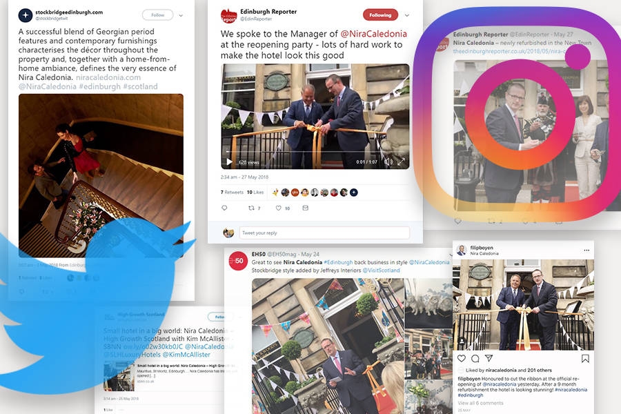 Social media success for Nira Caledonia as part of Hotel PR campaign