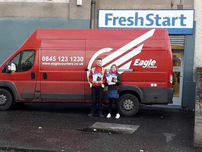 Scottish PR Eagle Couriers help Fresh Start