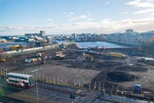 Waterfront Plaza from Ocean Terminal Car Park Property PR in Scotland