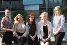 Award winning PR agency team at Holyrood PR in 2012