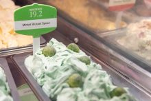 PR photo of Minted Brussels Sprout Ice Cream from Mackies of Scotland