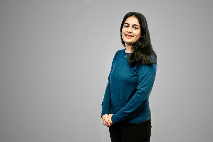 PR photograph of Nuha Zulkernain, an intern at an Edinburgh PR agency, Holyrood PR.