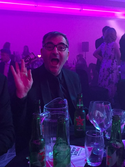 Raymond Notarangelo celebrates PR award success for Holryood PR in Scotland