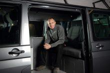 Simon Poole in Jerba Campervan Resized PR in Scotland