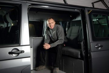 Simon Poole in Jerba Campervan Resized PR in Scotland