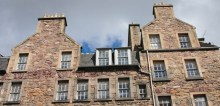 An image of a block of flats in Edinburgh's old town shared on behalf of Edinburgh property PR experts