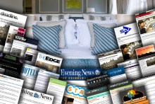A montage of digital coverage secured by Hotel PR agency for Fraser Suites