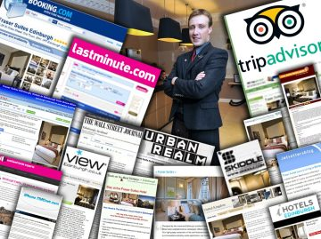 A montage of digital coverage secured by Hotel PR agency for Fraser Suites