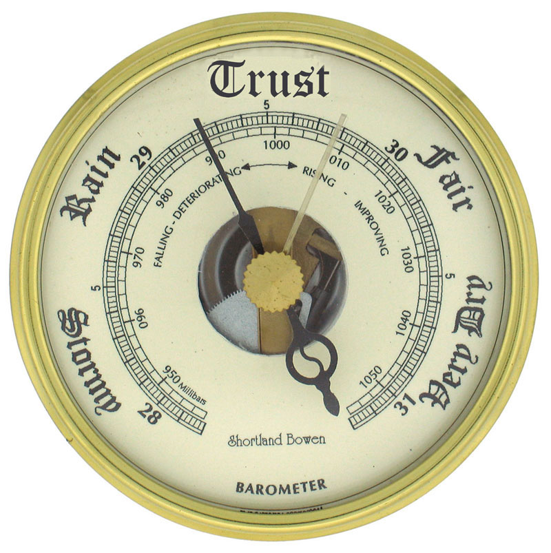 Trust barometer illustration for PR blog post by public relations agency