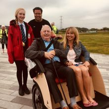 Cycling Without Age in Perth is supported by Bield tenant Norman Ridley | Charity PR