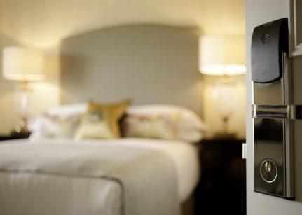 Hotel PR photograph of interior details at Nira Caledonia hotel in Edinburgh