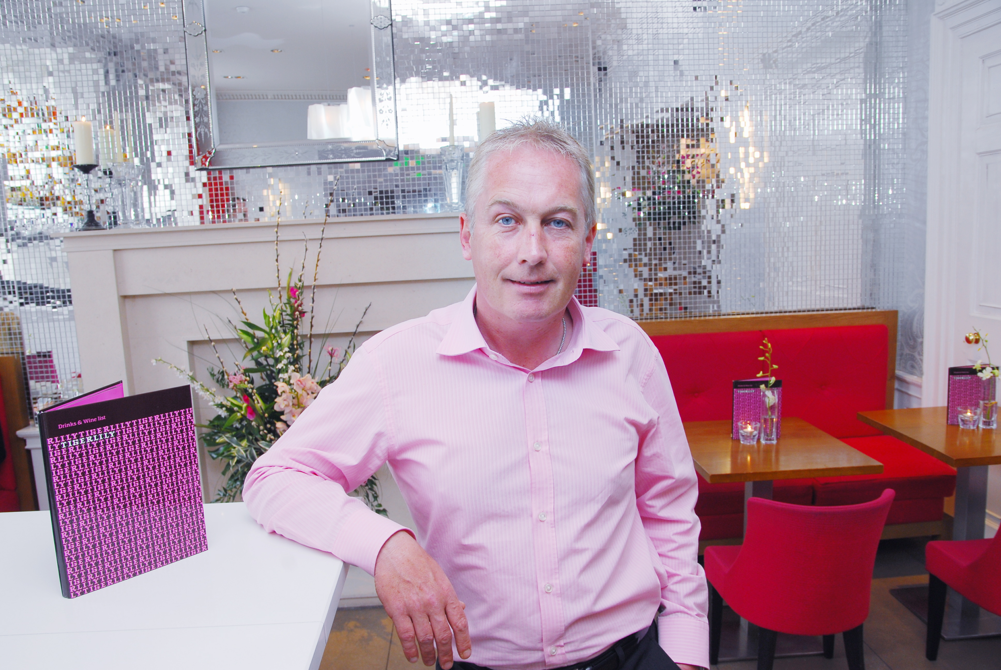 Hotel PR photography of David Wither, Managing Director of Montpeliers (Edinburgh) showcasing the group's most successful ever venue, Tigerlily in George Street