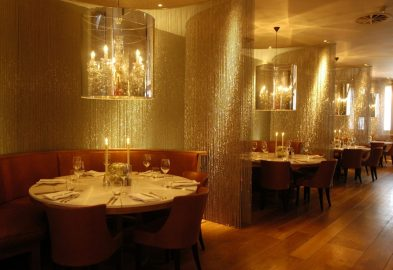 Main dining area of Tigerlily captured in bar and restaurant PR photography ahead of launch in 2006