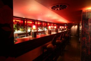 Hospitality PR photography showing interior design at Lulu nightclub in Edinburgh
