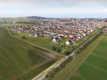 An aerial image of 150 homes which will be built by property developer, CALA Homes