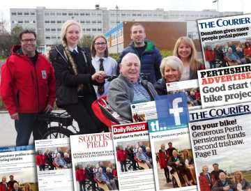 A collation of coverage achieved for charity PR client, Bield's news of the success of Cylcing without Age