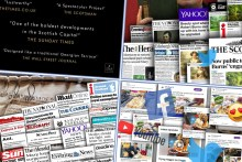 A montage which celebrates record breaking month of coverage for Scottish PR agency, Holyrood RR