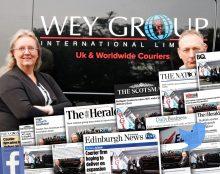 Eagle Couriers' Wey Group Media Success | Scottish PR