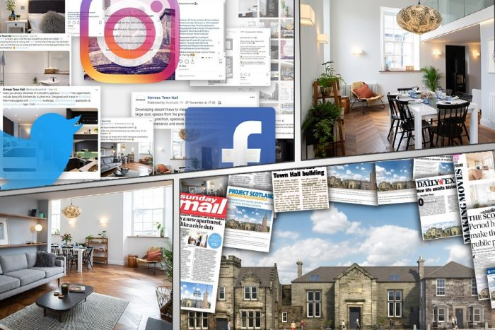 Digital PR and social media was a vital element of the integrated PR campaign for Kinross Town Hall