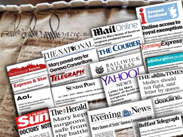 A montage of coverage secured by Scottish PR experts for Royal College of Surgeons of Edinburgh